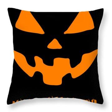 Jackolantern Happy Halloween Pumpkin Throw Pillow