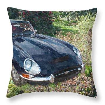Jaguar E Type Throw Pillow