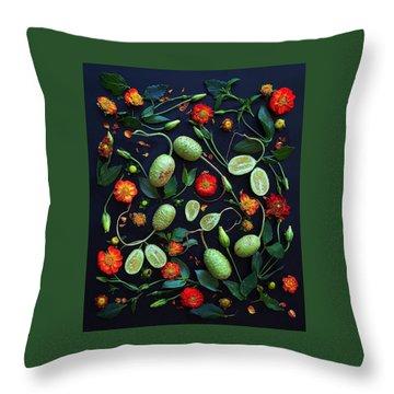 Jamaican Burr Cucumbers Throw Pillow