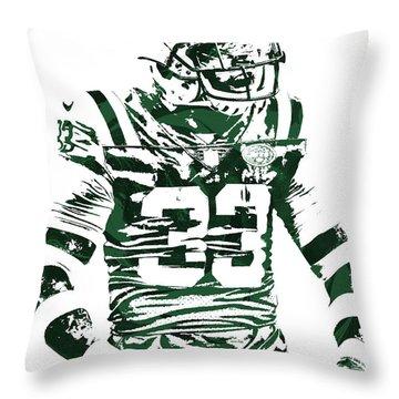 Jamal Adams New York Jets Pixel Art 2 Throw Pillow