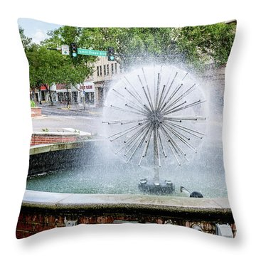James Brown Blvd Fountain - Augusta Ga Throw Pillow