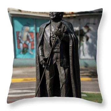 James Brown Statue - Augusta Ga 2 Throw Pillow