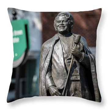 James Brown Statue - Augusta Ga Throw Pillow