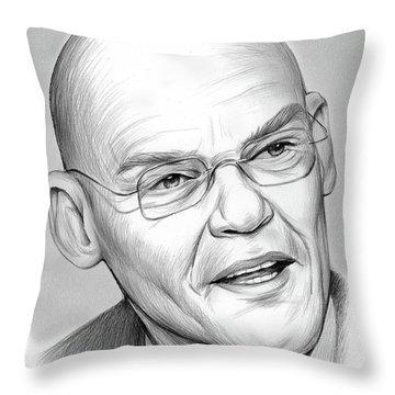 James Carville Throw Pillow