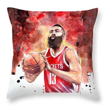 James Harden, Nba Throw Pillow