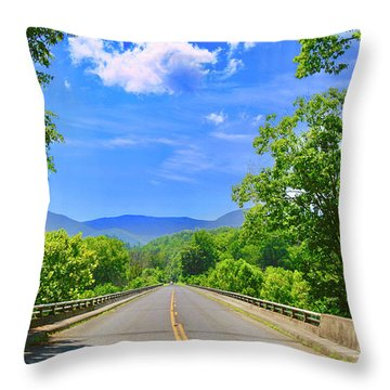 James River Bridge, Blue Ridge Parkway, Va. Throw Pillow