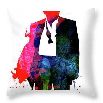 James Watercolor I Throw Pillow