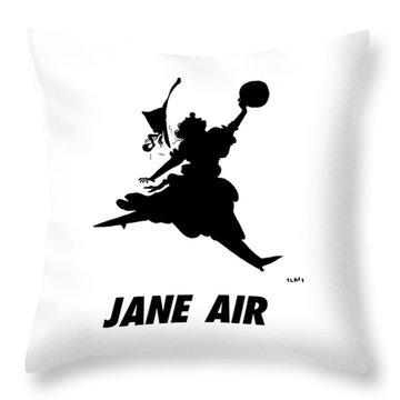 Jane Air Throw Pillow