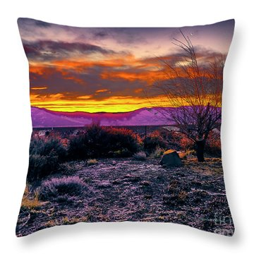 January Sunrise Throw Pillow
