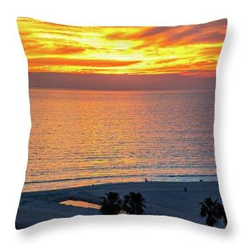 January Sunset - Vertirama Throw Pillow