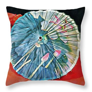 Throw Pillow featuring the photograph Japanese Parasol Study 1 by Dorothy Berry-Lound