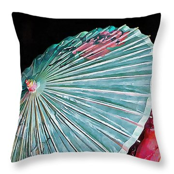 Throw Pillow featuring the photograph Japanese Parasol Study 2 by Dorothy Berry-Lound