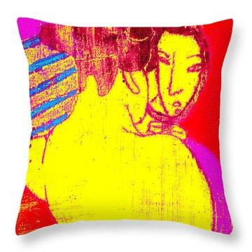 Japanese Pop Art Print 1 Throw Pillow