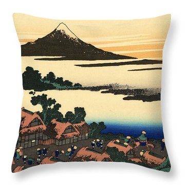 Throw Pillow featuring the photograph Japanese Village by Top Wallpapers