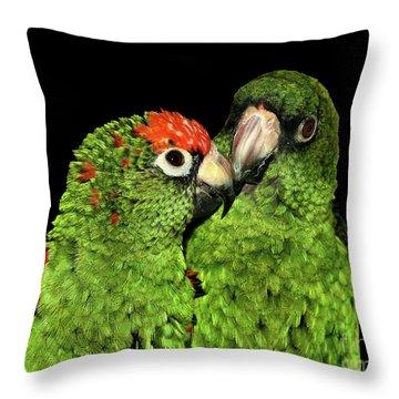 Jardine's Parrots Throw Pillow