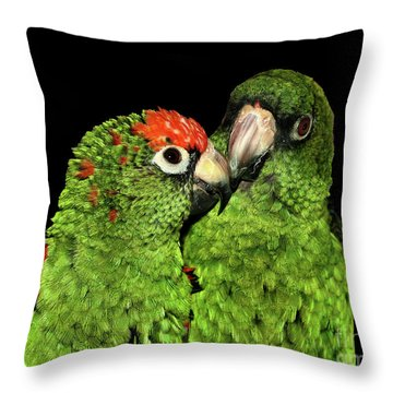 Throw Pillow featuring the photograph Jardine's Parrots by Debbie Stahre