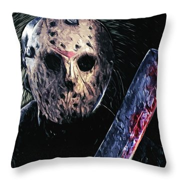 Jason Voorhees Throw Pillow