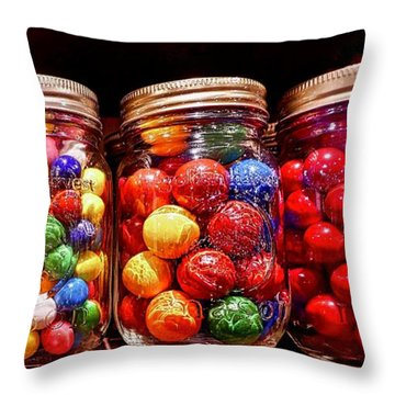 Throw Pillow featuring the photograph Jaw Breakers by Joan Reese