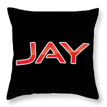 Throw Pillow featuring the digital art Jay by TintoDesigns