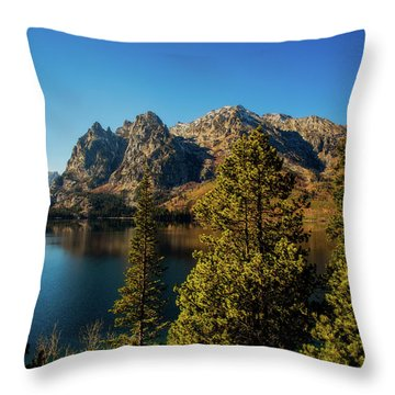 Throw Pillow featuring the photograph Jenny Lake by Pete Federico