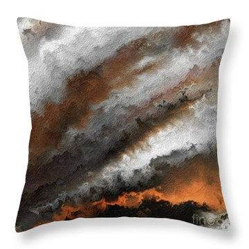 Jeremiah 20 9 Fire In My Heart Throw Pillow