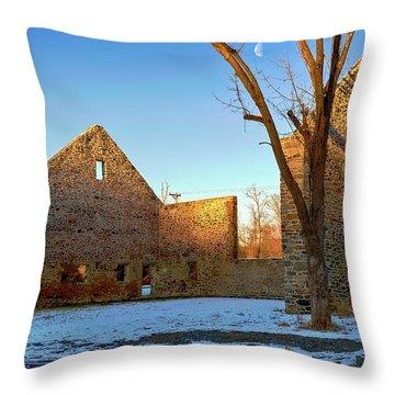Jericho Road Bank Barn Throw Pillow