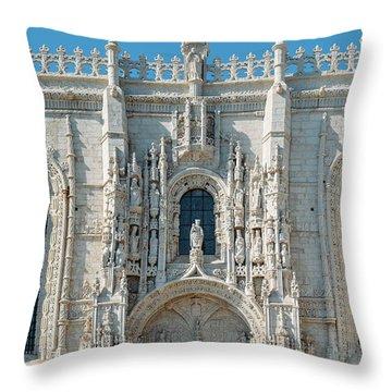 Jeronimos Monastery, Portugal Throw Pillow