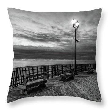 Jersey Shore In Winter Throw Pillow