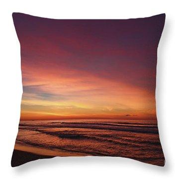 Jersey Shore Sunrise Throw Pillow