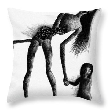 Jessica And Her Broken - Artwork Throw Pillow