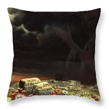 Jesus And His Jewels Throw Pillow