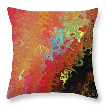 Throw Pillow featuring the painting Jesus Christ, The Truth. John 1 14 by Mark Lawrence