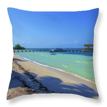 Jetty On Isla Contoy Throw Pillow