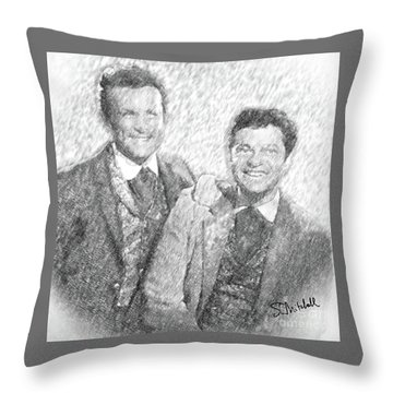 Jim And Artimus Throw Pillow