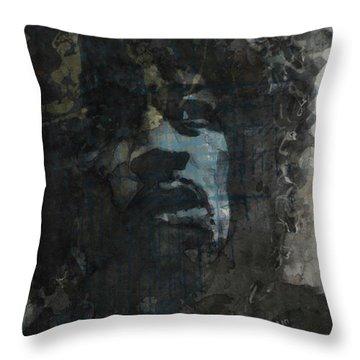 Jimi Hendrix - Retro Series Throw Pillow