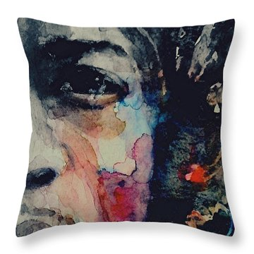 Jimi Hendrix - Somewhere A Queen Is Weeping Somewhere A King Has No Wife  Throw Pillow
