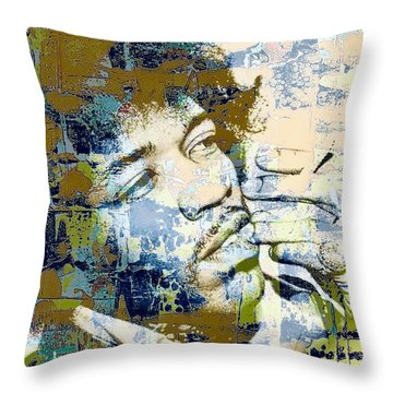 Jimi Soul Throw Pillow