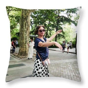 Jing An Park Throw Pillow