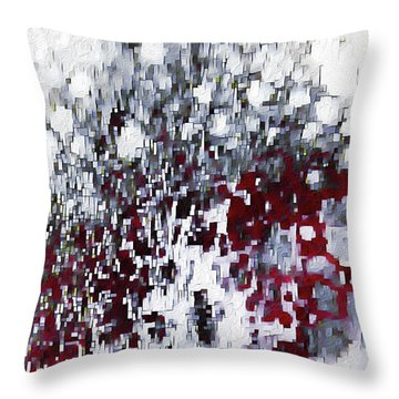 Throw Pillow featuring the painting John 3 17. God's Amazing Love by Mark Lawrence