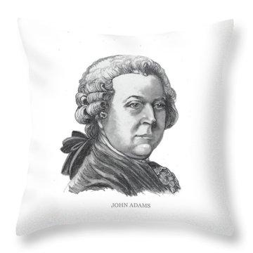 John Adams Throw Pillow