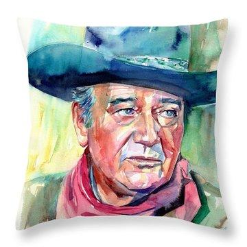 John Wayne Portrait Throw Pillow