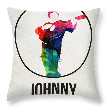 Johnny Cash Watercolor Throw Pillow