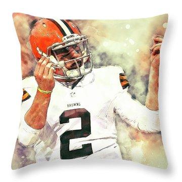 Johnny Manziel Throw Pillow