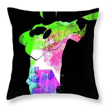 Johnny Watercolor II Throw Pillow