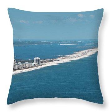 Johnson Beach Throw Pillow