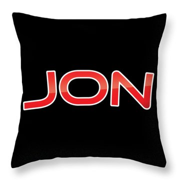 Throw Pillow featuring the digital art Jon by TintoDesigns