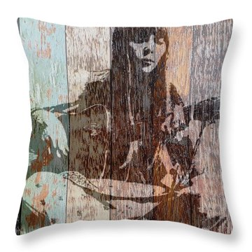 Joni Mitchell Throw Pillow