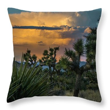 Joshua Tree Thunder Throw Pillow