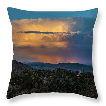 Joshua Tree Thunderhead Throw Pillow