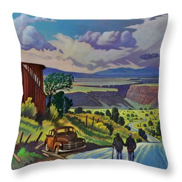 Journey Along The Road To Infinity Throw Pillow